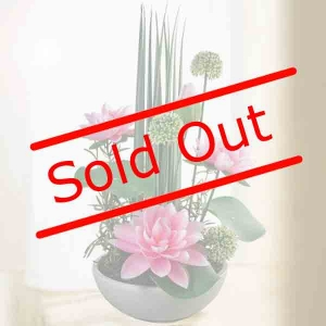 Artificial Lotus Flowers Arrangement.
