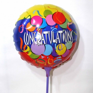 "Add-on Balloon-Congratulations 12"" Round Shape"