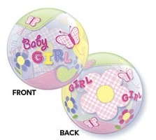 "Add-On 22"" Helium Filled (BABY GIRL BUTTERFIES) Floating Balloon"