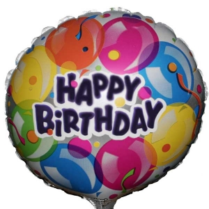 Add-On 9 inches Happy Birthday Balloon