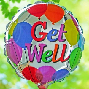 Add-On Get well soon 9 inched Foil balloon