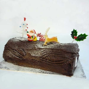Add-on Half Kg X'Mas Log Cake ( Can not deliver it by it-self )