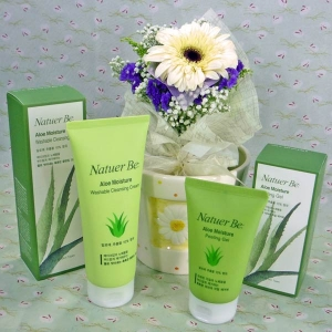 Aloe Moisture Peeling Gel & Washable Cleansing Cream...