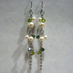 Ear Rings - Elegant-E Green