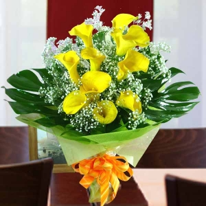10_cala_lily_yellow_with_babybreath_handbouquet