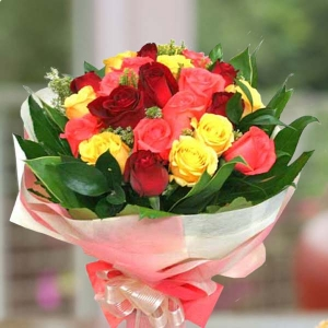 21 Mixed Roses Handbouquet
