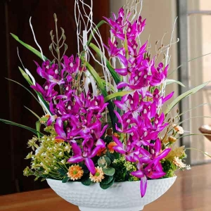 Artificial Orchid Table Arrangement