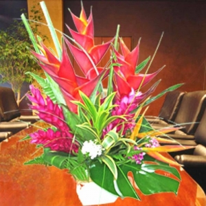 Heliconia Table arrangement ( 1 Day Advance Order )