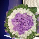 99 Roses ( 40 Purple 59 White ) Handbouquet