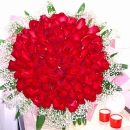 99 Red Roses Hand Bouquet