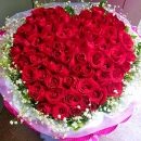 99 Red Roses Handbouquet (Heart Shape)