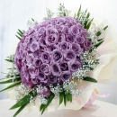 99 Natural Classic Purple Roses Handbouquet (Kindly order 2 days