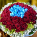 Ninety Nine Roses Hand Bouquet