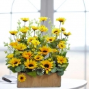 Artificial Sunflower in Planter