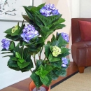 Artificial Blue Hydrangeas Plant About 100cm Height