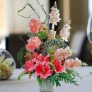 Pink Lilies Artificial Flowers Arrangement