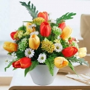 Artificial Orange & Yellow Tulips Table Arrangement Delivery in Singapore