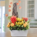 Artificial Tulips Table Arrangement