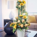 Artificial SunFlowers & Roses Arrangement