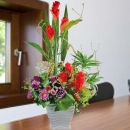 Artificial Ginger Flowers Table Arrangement