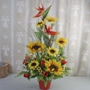 Artificial Sun Flowers Arrangement Delivery