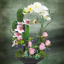 Artificial Phalaenopsis Orchid Table arrangement