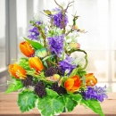 Artificial Flowers With Butterfly Arrangement