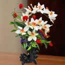 Artificial Orchid Flowers Table Arrangement 60cm Height