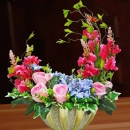 Artificial Flowers Table Arrangement