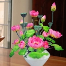Artificiail Lotus Flowers Table Arrangement