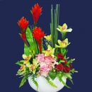 Artificial Cymbidium orchid & Ginger Flower Arrangement