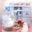 10 Pieces Gift Set (Blue) & Red Roses