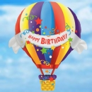 "42"" Birthday Hot Air Balloon - Helium Filled"