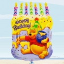 "Add-On 18""x23"" Helium Filled ( Happy Birthday ) Mylar Floating Balloon"