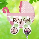 Add-On 9 inches Baby Girl Balloon