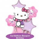 "18"" Helium Filled (Hello Kitty Bouquet) Mylar Floating Balloon."
