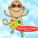 "29""x33"" Helium Filled (Monkey Luau Boy) Mylar Floating Balloon"
