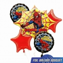 """SpiderMan Birthday"" Floating Bouquet Balloons.(Total 5 pcs in A Set)"