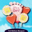 """It's a Girl!"" Floating Helium Bouquet Balloons ( 5pcs )"