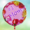 "Add-On 18"" Helium Filled (#1 Mom) Mylar Floating Balloon"