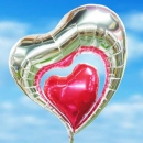 30 inches Elegant Double Heart-Shape Floating Balloon