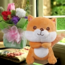 16cm Squirrel & Roses Standing Bouquet