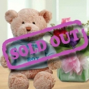 (It's A BOY) 8 inches Bear & 3 Mixed Roses Standing Bouquet