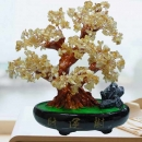 CITRINE Crystal Bonsai Tree H28cm