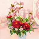 Artificial Peony Flowers Arrangement with Fortune CAT