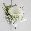 White Eustoma Corsage ( Add-On Only, No Delivery )