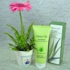Aloe Moisture Washable Cleansing Cream with Potted Pink Gerbera