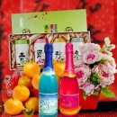 Pu-erh Tea, Chinese Orange & Artificial Peony Gift Basket