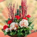 Lunar New Year Artificial Bamboo & Hydrangeas Everlasting Flowers Delivery