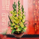 Artificial Gladiolus Flowers Table Arrangement